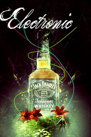 Jack Daniels Electronic ~ Alcohol Graphic
