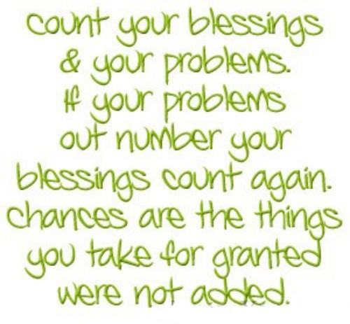 Count your blessings coolgraphic
