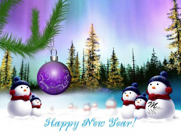 Lovely New Year Greeting Card