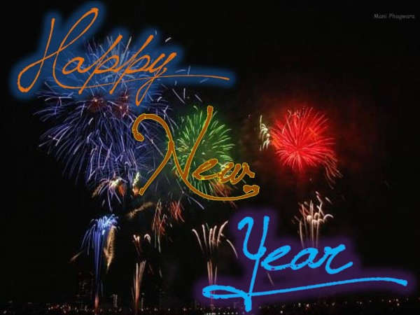 Wonderful New Year Greeting Card