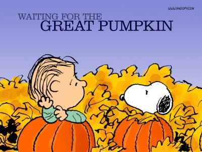 Waiting for The Great Pumpkin On Halloween Day
