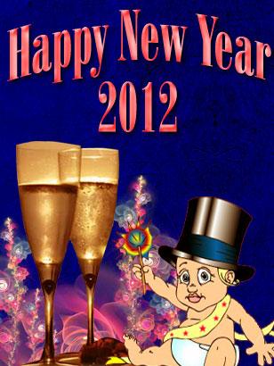 Happy New Year 2012 Ecard