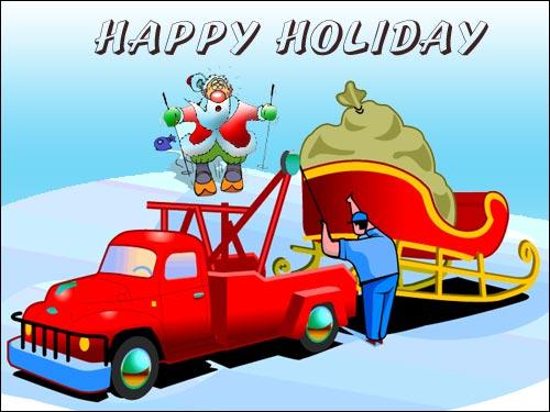 Funny Santa On Holidays