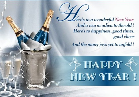 Wonderful New Year Ecard