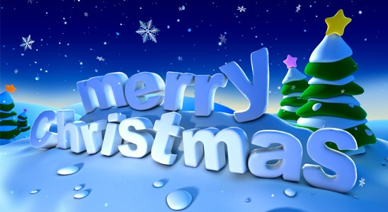 Elegant Merry Christmas Ecard