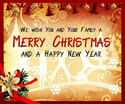 Merry Christmas And New Year Ecard