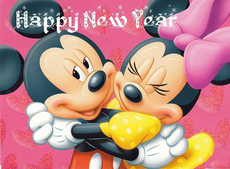 Micky And Minnie Happy New Year Greetings