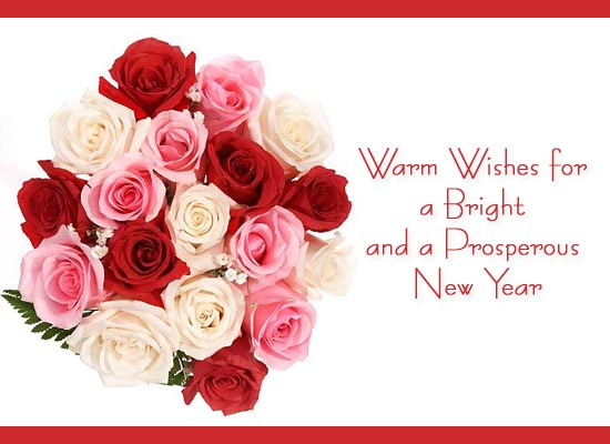 Warm Wishes for New Year Ecard