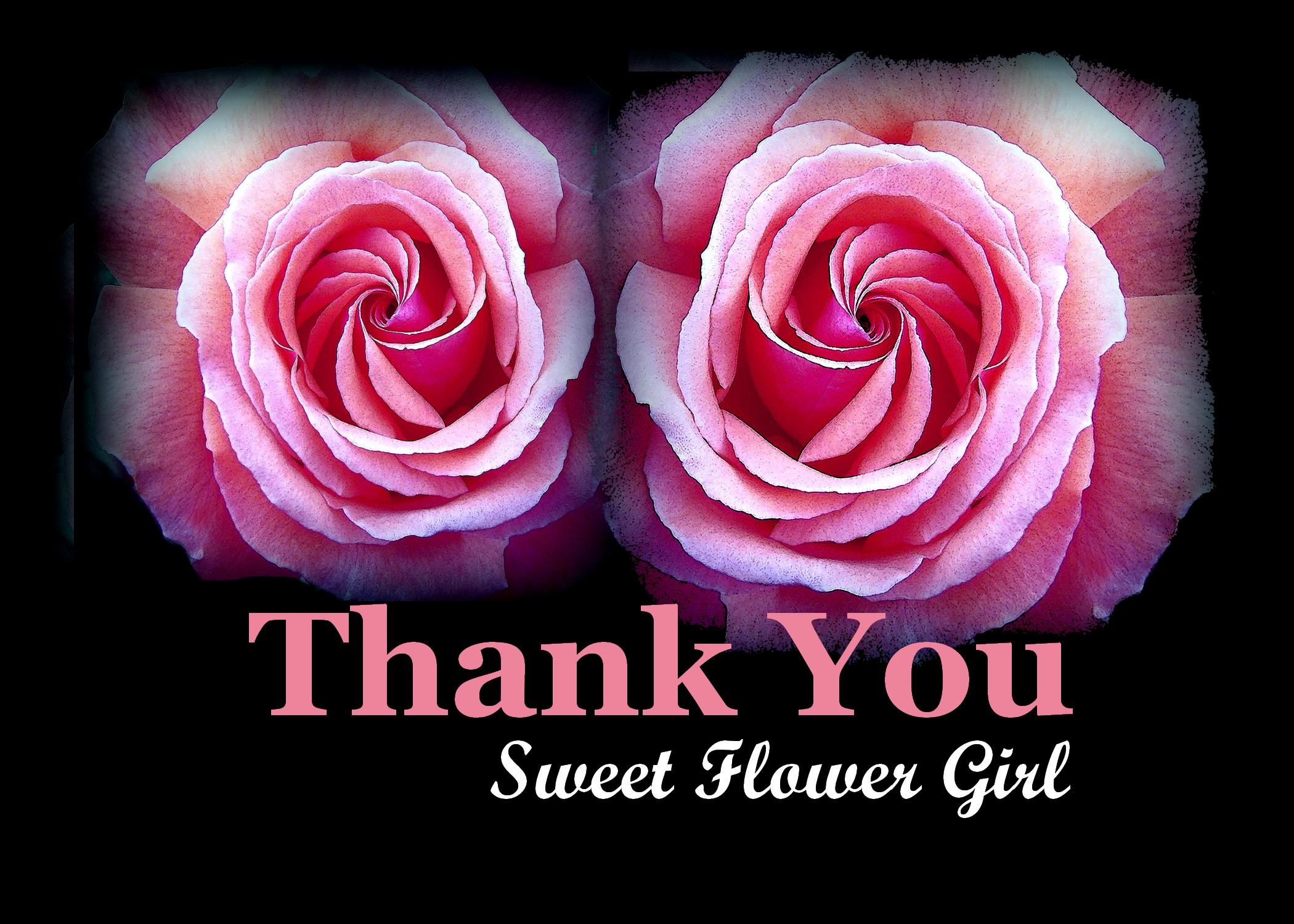 Thank You Sweet Flower Girl