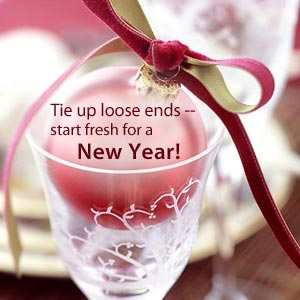 Tie Up Loose Ends Start Fresh For A New Year