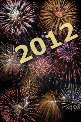 2012 New Year Graphic for Myspace