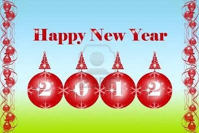 Colorful New Year 2012 Ecard