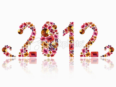 Elegant 2012 New Year Greeting