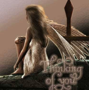 Angelic Thinking of You Graphic