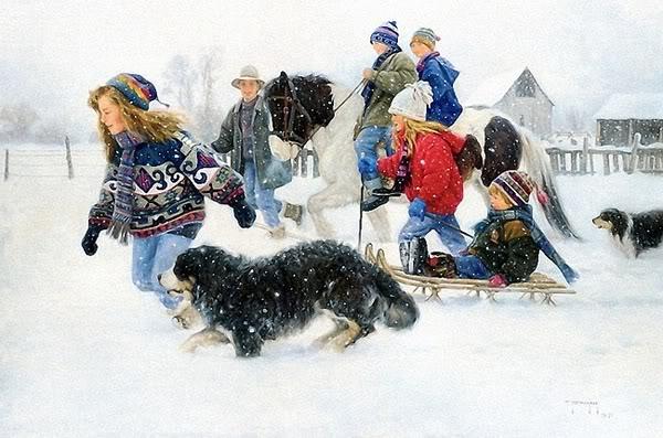 Children Having Fun In Winters