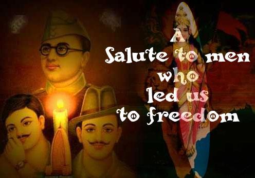A Salute Who Led Us To Freedom