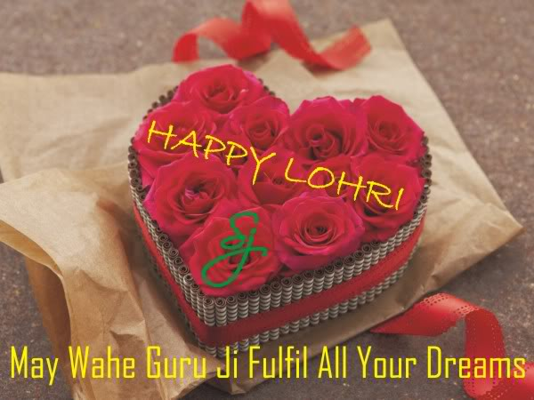 Beautiful Lohri Greeting Card