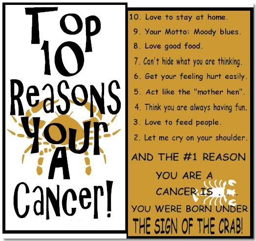 Top 10 Reasons Cancer Ecard