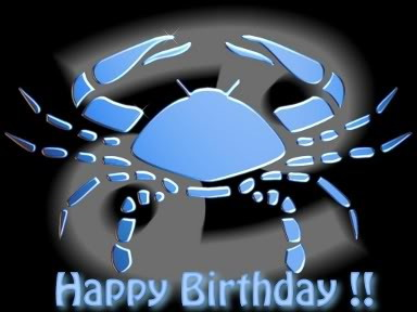 Happy Birthday Zodiac Cancer Ecard