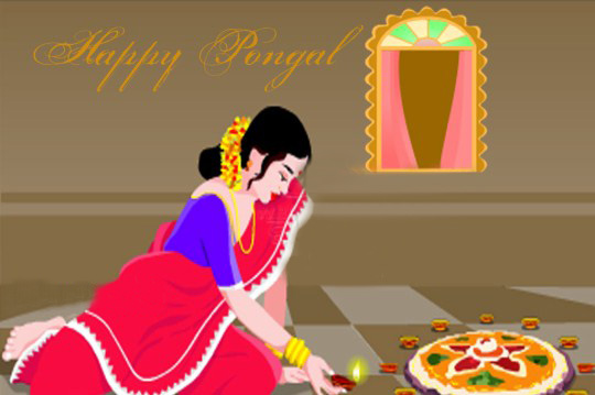 Wonderful Happy Pongal Ecard for Facebook