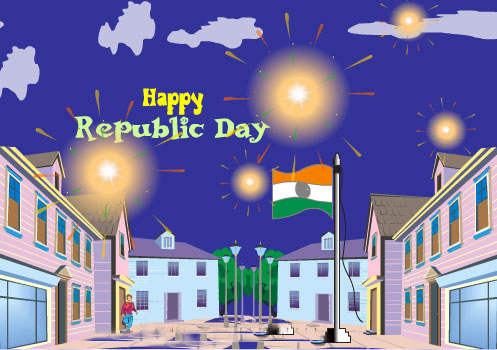 Happy Republic Day Graphic