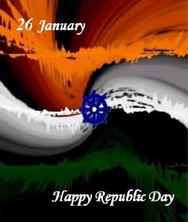 Tricolor Happy Republic Day Pic