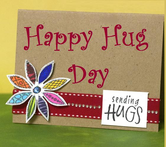 Happy Hugs Day Greeting Card