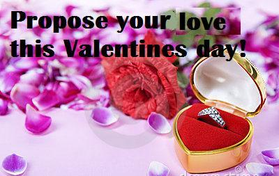 Propose Your Love This Valentines Day