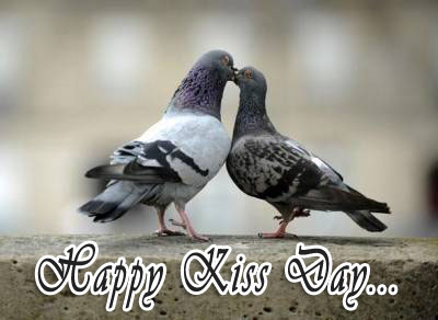 Happy Kiss Day: Ecard for Facebook
