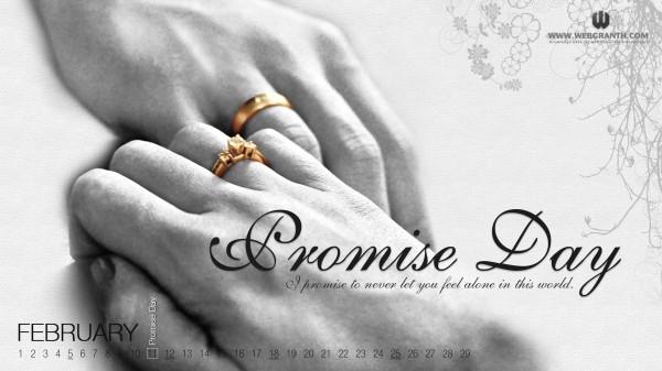 Elegant Promise Day Ecard