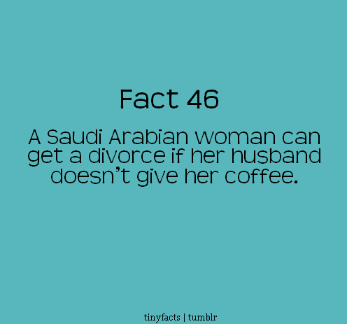 Fact Quote - A Saudi Arabian woman can get a divorce if her husband…