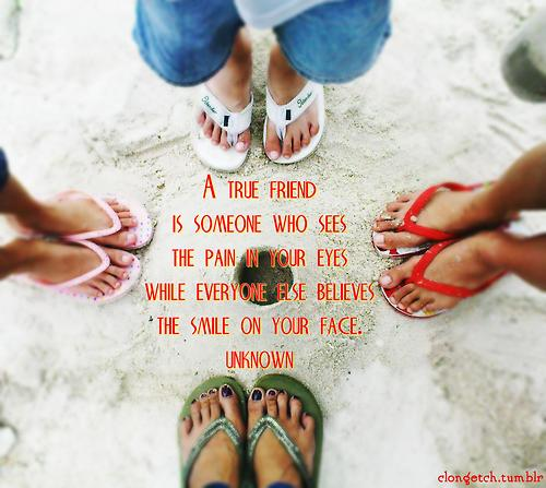 A True Friend Is Someone Who Sees the Pain in Your Eyes : Friendship Quote