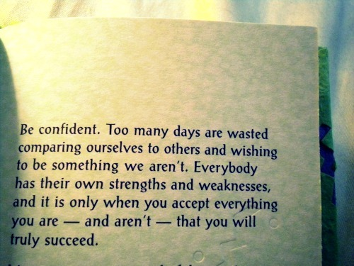 Be confident - Quote
