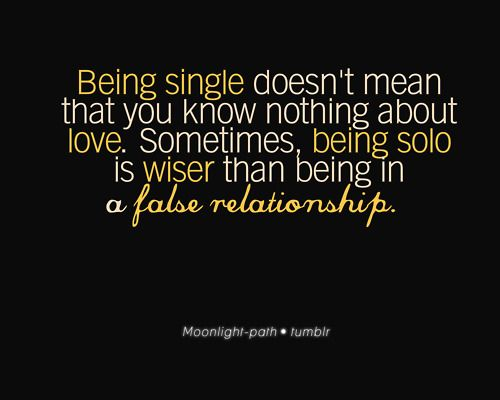 Fact Quote : Being Single Doesn't Mean That You Know Nothing About Love…