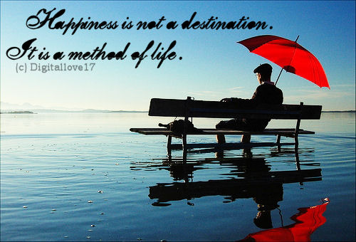 Happiness Quote ~ Happiness is not a destination.