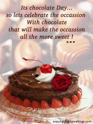 Its Chocolate Day: Greeting Card