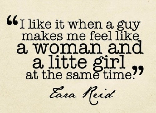 I like it when a guy - Girl Quote