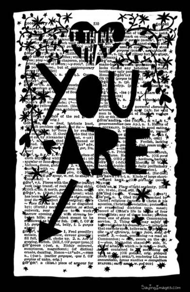 I think that you are : Compliment Quote