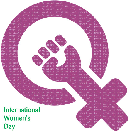 International Womens Day Vector Graphic.