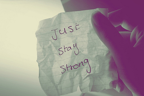 Life Hack Quote ~ Just stay strong