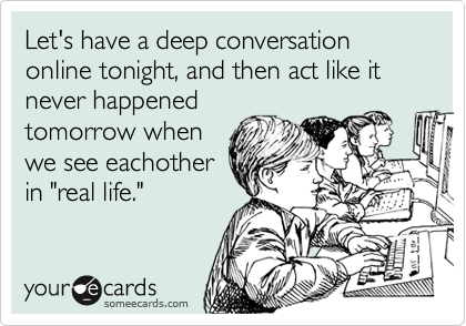 Let's Have a Deep Conversation - Love Quote