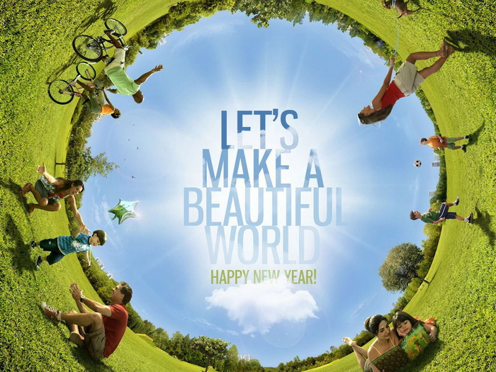 Holiday Quote - Let's make a beautiful world.