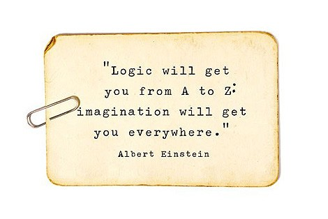 Life Hack Quote - Logic will get you from A to Z