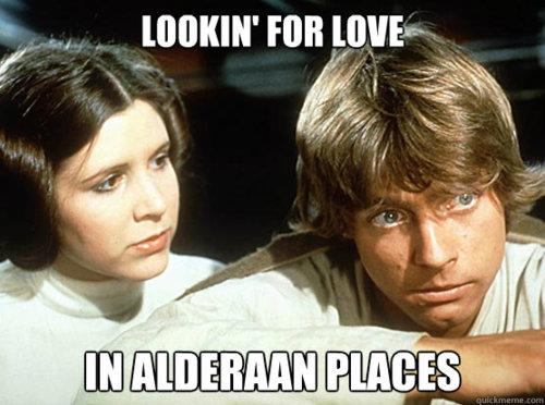 Looking For Love In Alderaan Places - Best Love Quote