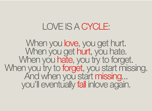 Love is a cycle : Love Quote