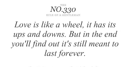 Love is like a wheel - Tips & Rules Quote