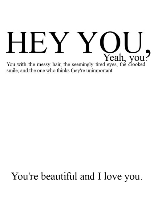 You Are Beautiful, I Love You - Love Quote