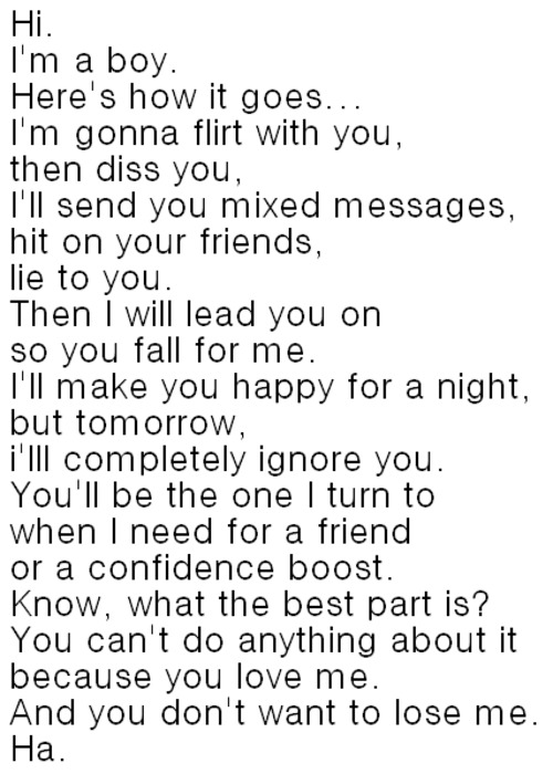 Flirt with a Guy : Love Quote