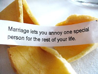 Marriage lets you annoy one special person for the rest of your life. | Fact Quote