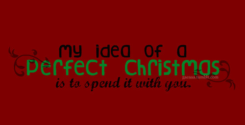 My Idea Of A Perfect Christmas ~ Christmas Quote
